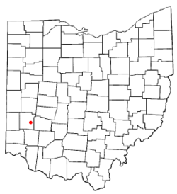 Location of Oakwood, Montgomery County, Ohio