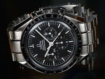 The Omega Speedmaster, selected by U.S. space agencies OMEGA-Speedmaster-Professional-Front.jpg