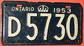 ONTARIO 1953 -MEDICAL DOCTOR LICENSE PLATE - Flickr - woody1778a.jpg
