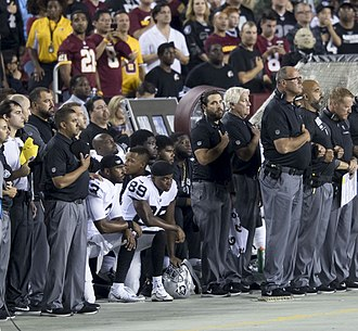 U.S. national anthem protests (2016–present) - Oakland Raiders players kneeling in week 3