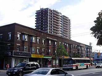 Oakwood–Vaughan - View of Oakwood-Vaughan from Oakwood and St. Clair Avenue