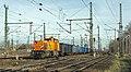 Oberhausen West North Rail 1275 103-0 met blauwe bulk wagons (12014098606).jpg