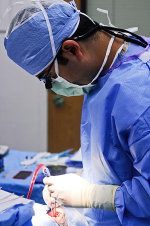 Enucleation of the eye - An oculoplastic surgeon performing an enucleation of the eye.