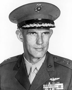 Marion Eugene Carl - Image: Official Portrait of U.S. Marine Corps Major General Marion E. Carl