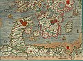 Olaus Magnus' Map of Scandinavia 1539, Section H, Denmark, Sweden.jpg