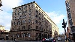 Old G&SWR College Goods Yard warehouse, Glasgow, Scotland.jpg
