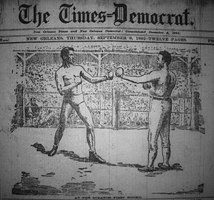 Cover art - Image: Olympic Club Times Democrat Headline