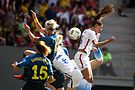 Olympic Games 2016 match between the women's teams of the United States - Sweden. 13.jpg