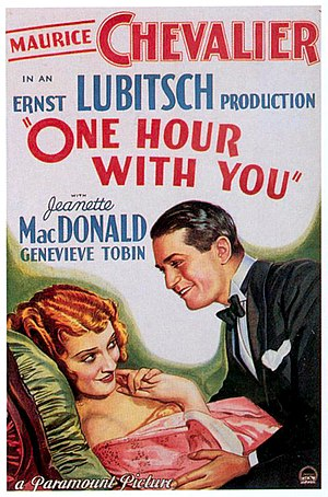 One Hour with You - theatrical release poster