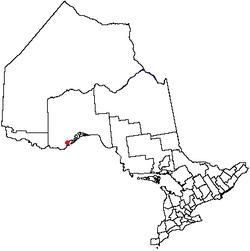 Location of Thunder Bay, Ontario