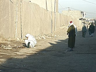 Open defecation - Open defecation, Tirin Kowt bazaar, Afghanistan