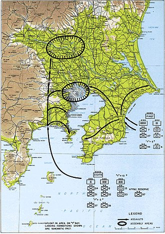 Operation Downfall - Operation Coronet was planned to take Tokyo.