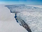 Operation IceBridge View of Larsen C (26792514039).jpg