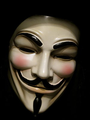 V for Vendetta (film) - Image: Original Guy Fawks mask from V for Vendetta (5400848923)