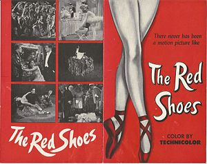 "The Red Shoes (1948 film) - Original flyer for the film ""The Red Shoes."" From The Red Shoes (1948) Collection at Ailina Dance Archives."