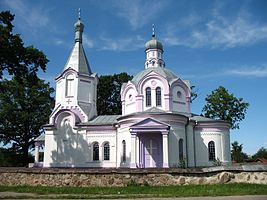 Orthodox church in Daŭhinaŭ, Biełaruś.jpg