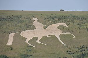 Osmington White Horse - The Osmington White Horse in 2013