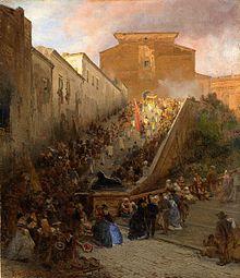 Processione ottocentesca all'Aracoeli