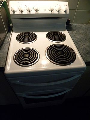 English: Electric oven/stove