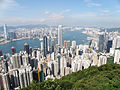 Overlook Hong Kong Island north coast, Victoria Harbour and Kowloon from middle section of Lugard Road at daytime.jpg
