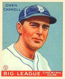 Ownie Carroll Major League Baseball pitcher