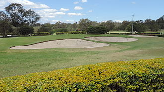 Oxley, Queensland - Oxley Golf course, bunkers at the 9th hole, 2014