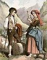 Pâtre et jeune fille des Eaux-Chaudes, vallée d'Ossau.jpg