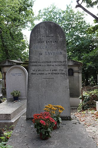 Jean Anthelme Brillat-Savarin - The grave of Brillat-Savarin, at Père-Lachaise.