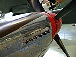 P-51 Mustang 413317 engine exhausts at RAF Museum London Flickr 4607673180.jpg