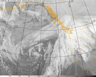 Great Coastal Gale of 2007 - Image: Pacific NW 2007 12 03