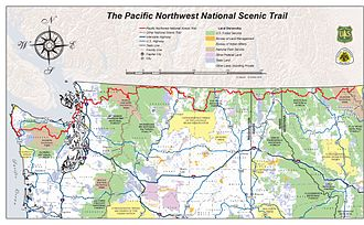 Pacific Northwest Trail - Pacific Northwest National Scenic Trail overview map