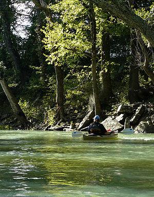 Ozark, Arkansas - Canoeing on the Mulberry River