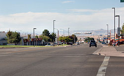 View of Lake Powell Boulevard in Page