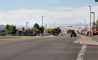 Page, Arizona - View of Lake Powell Boulevard in Page