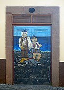 Painted door (On the coast). Funchal, Madeira