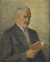 Památník Petra Bezruče - interiér, portrét básníka1.jpg
