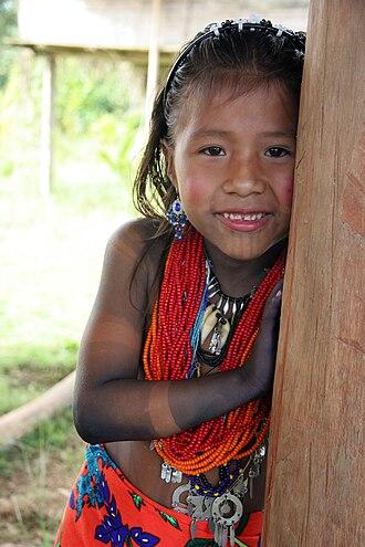 Indigenous peoples of Panama - Embera girl, Darién Province, 2006