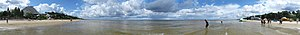 Jūrmala - Panoramic View of the beach at Jūrmala