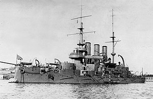 Russian battleship Potemkin - Panteleimon at anchor, circa 1906–10