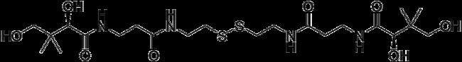 パンテチンの構造式