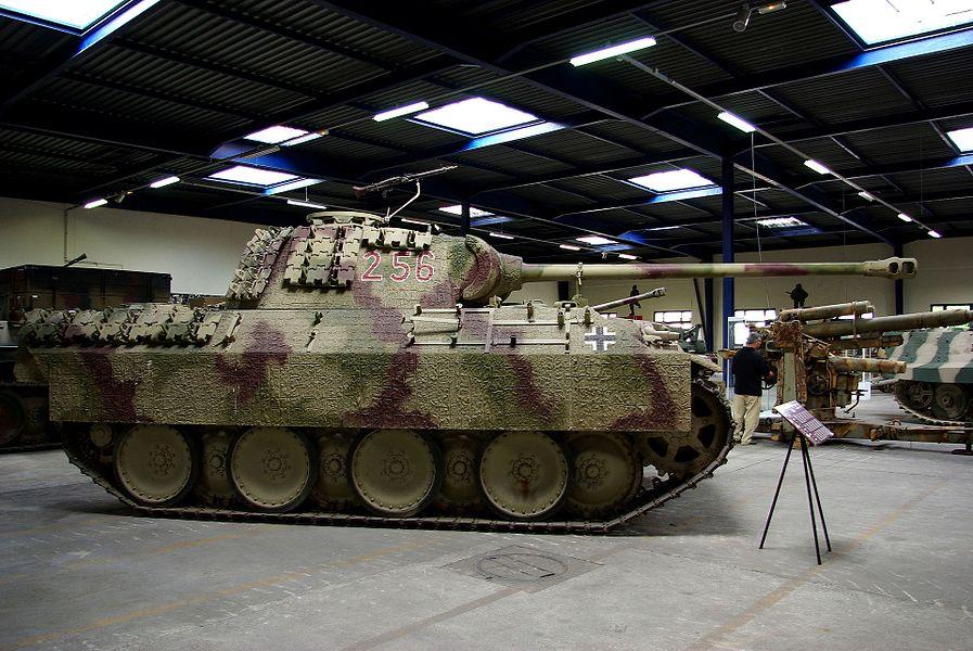 Panzer V exposé au Musée des Blindés de Saumur.