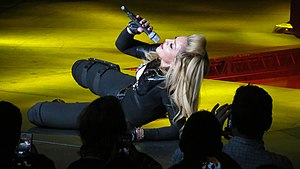 "Papa Don't Preach - Madonna performing a shortened version of ""Papa Don't Preach"" during The MDNA Tour in 2012."