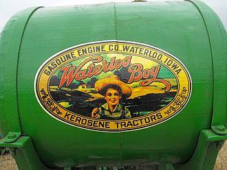 Petrol-paraffin engine - Paraffin (kerosene) tank on Waterloo Boy tractor