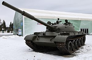A T-62 tank of the Russian Ground Forces.