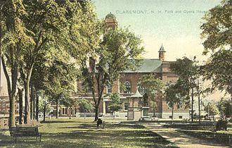 Claremont, New Hampshire - Broad Street Park in 1909