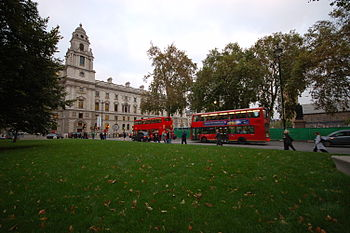 English: The Parliament Square in London, on t...