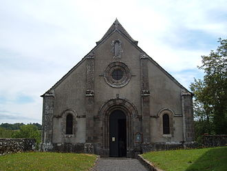 Brageac - The church of Saint-Thibaud, in Brageac