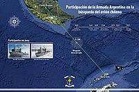 Participación de la Armada Argentina en la busqueda del C130 chileno mapa.jpg