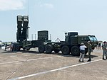 Patriot PAC-2 Launcher with HEMTT Display at Gangshan Air Force Base Apron 20170812a.jpg