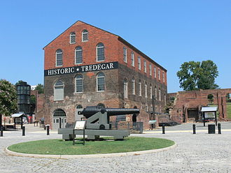 Tredegar Iron Works - The Pattern Building, now used as the main visitors' center for Richmond National Battlefield Park
